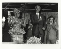 Mandela, Mara Louw and Brian Filling, 9th October 1993