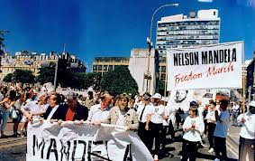 Nelson Mandela Freedom March, Glasgow, 12th June 1988