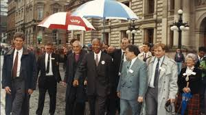 Mandela at City Chambers, Glasgow, 9th October 1993