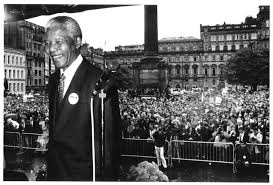 Mandela in George Square, 9th October 1003