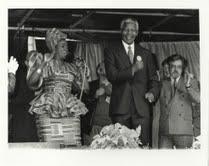 Mandela, Mara Louw and Brian Filling, 9th October 1993